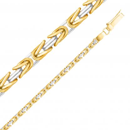 Цепь плетение Византия из золота