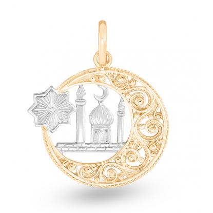 Мусульманская подвеска золота