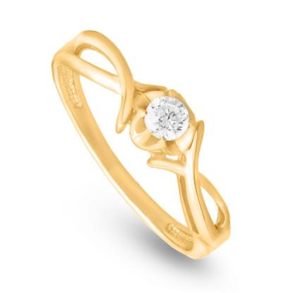 Кольцо из золота с фианитам