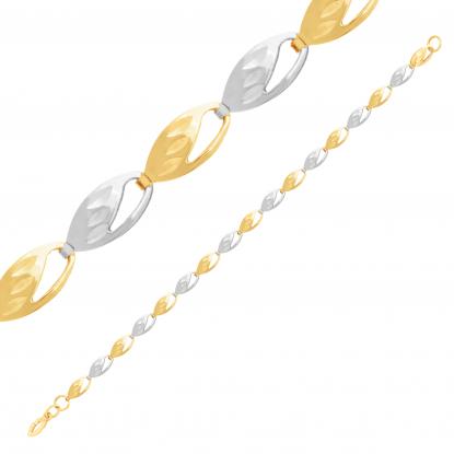 Цепь из комбинированного золото